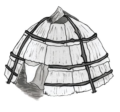 Coloring Pages Longhouse | longhouse coloring page
