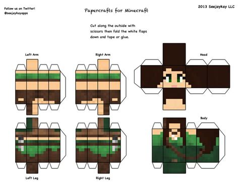 Papercraft Characters - minecraft skins 3d cut out minecraft
