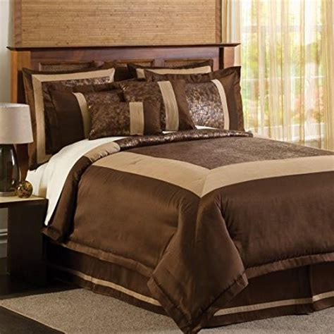 Brown And Gold Comforter Sets by Comforter Sets Lush Decor Croc 8 Comforter Set