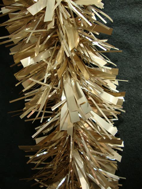luxury tinsel luxury thick chagne gold tinsel 2 metre