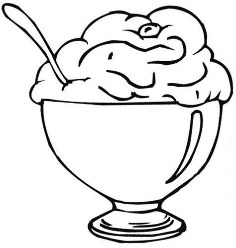 ice cream cup coloring page ice cream coloring pages for free download