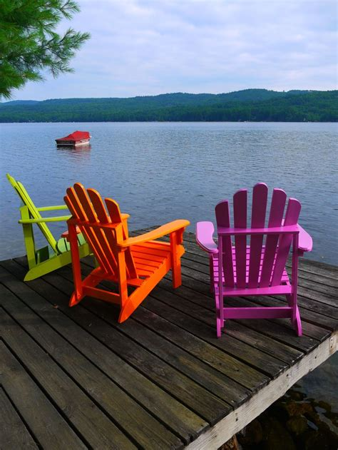 Colorful Lawn Chairs by 25 Best Ideas About Adirondack Chairs On