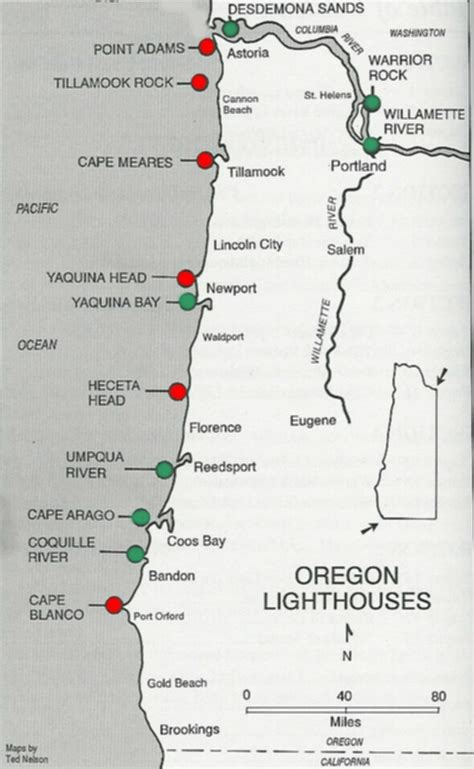 map of oregon coast cities lighthouses of oregon coast map oregon coast mappery