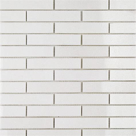 shop for white thassos 3 4 x 4 big brick pattern marble mosaic tiles at tilebar com