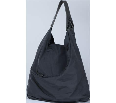 Ladys Bag Vnc vnc green and grey studded shoulder bag