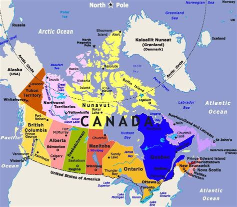 map pf canada detailed map of canada
