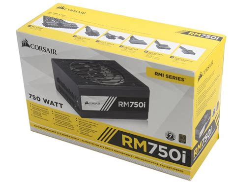 Power Supply Corsair Rm750i Rmi750 Modular Gold corsair rm750i power supply review product showcase