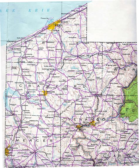 western pa map map of western pennsylvania my