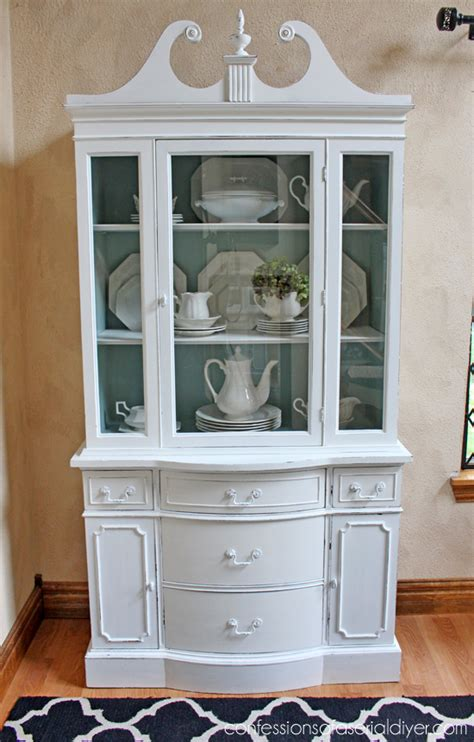 How To Check My Hutch Number Duck Egg Blue And White China Cabinet Confessions Of A
