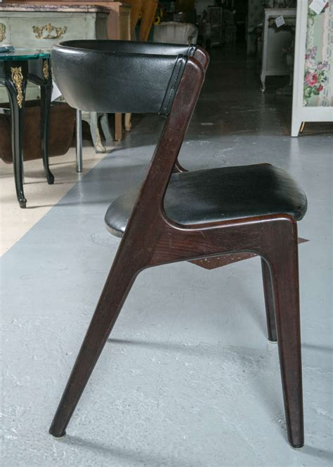 Barrel Back Dining Chair Set Of Six Barrel Back Leather Kofod Larsen Style Dining Chairs At 1stdibs