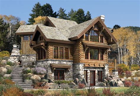 cabin house rustic luxury log cabins plans