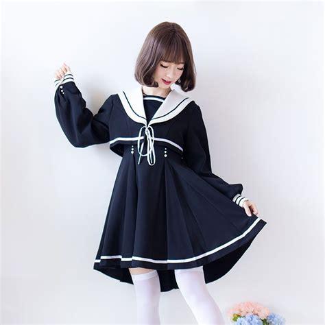 Sailor Collar Sleeve Dress sailor collar sleeve dress school design