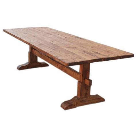 pine dining room table trestle table in vintage pine for sale at 1stdibs