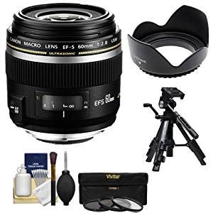 canon ef s 60mm f/2.8 macro usm lens with 3 uv/cpl/nd8