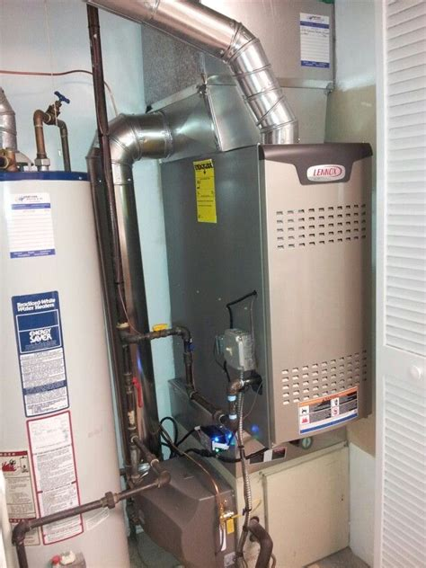 lennox furnace light lennox downflow 2 stage furnace bypass humidifier and