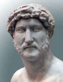 Portrait of the emperor hadrian marble first half of the 1st century