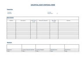 asset form template 10 best images of asset disposal form template fixed