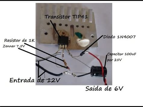 resistor de 12v para 6v construa um carregador de bateria e conversor de 12v para 6v e mostrado todos componentes