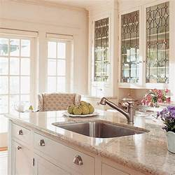 Glass For Kitchen Cabinets Doors Bright Glass Front Kitchen Cabinet Doors Spotlats