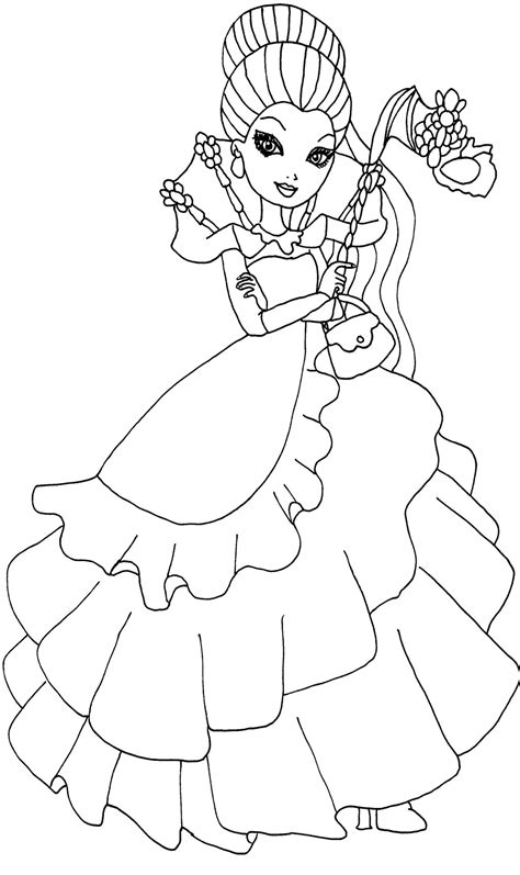 ever after high coloring pages by elfkena lizzie hearts coloring pages coloring pages