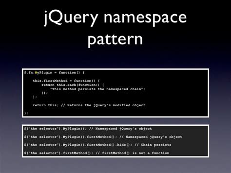 pattern namespace jquery namespace design pattern pt br