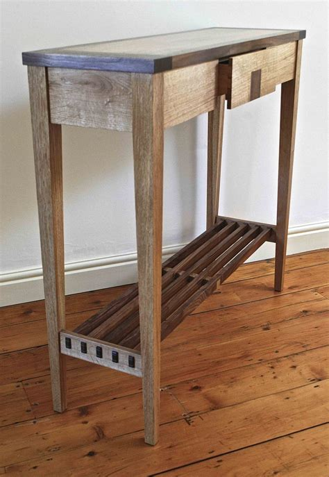 wood console table with storage vintage look custom small wood console table with drawer