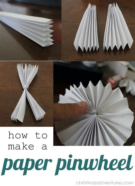 How To Make A Paper Pinwheel - diy mobile christinas adventures