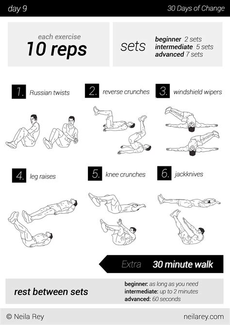 30 day workout plan at home 2 week workout plan at home