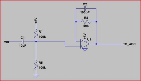 capacitor effect on sine wave analog measure ac sine wave litude with adc electrical engineering stack exchange