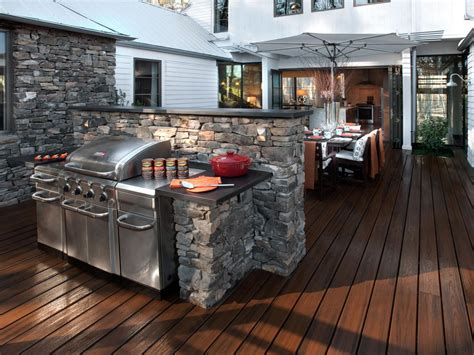 Backyard Grille Deck Design Ideas Outdoor Spaces Patio Ideas Decks Gardens Hgtv