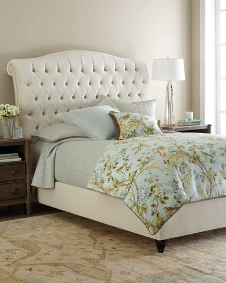 tufted bed haute house harper tufted ivory velvet bed