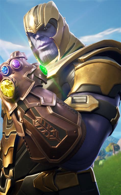 thanos  fortnite battle royale hd  wallpaper