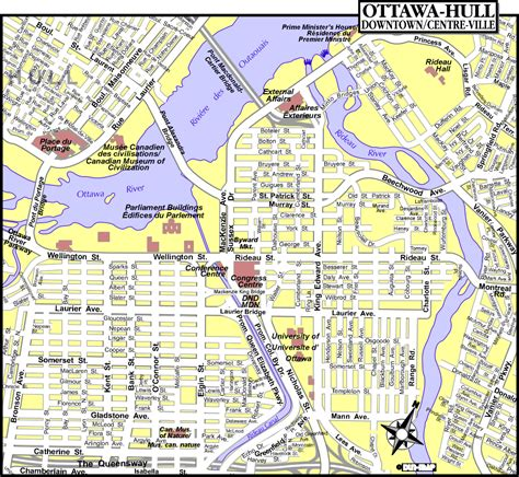 map of canada ottawa map of ottawa canada