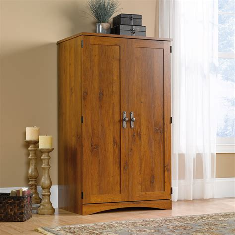 Sauder Harvest Mill Computer Armoire In Abbey Oak Finish Sauder Harvest Mill Computer Armoire