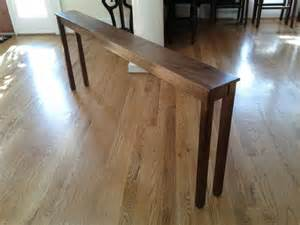 Skinny sofa table diy decorating pinterest