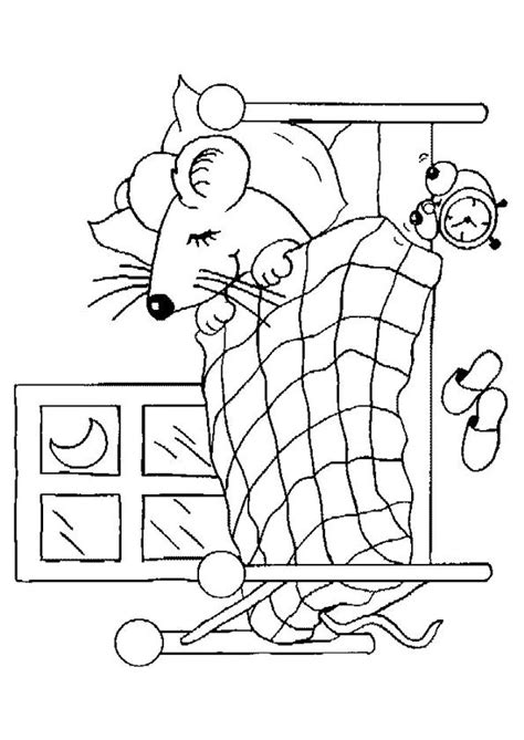 comment faire dormir bébé dans sa chambre image 224 colorier d une souris entrain de dormir