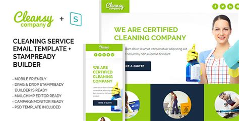 cleansy cleaning service purpose e mail template by