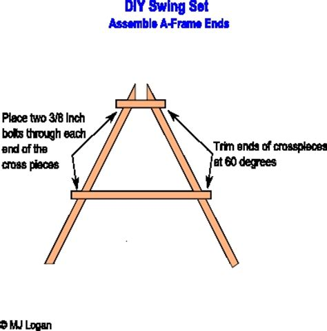 swing set a frame plans plans to build how to build wood a frame swing pdf plans