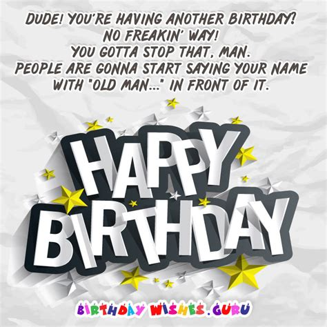 Happy Birthday Dude Wishes Cool Birthday Messages