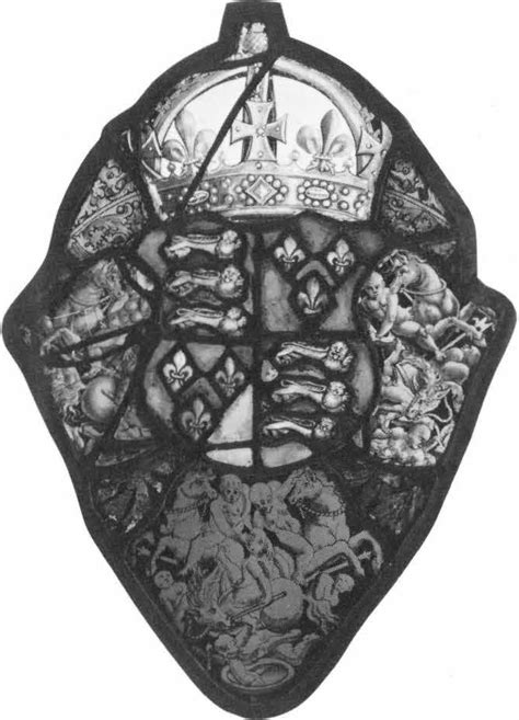 heraldic panel royal arms of corpus vitrearum usa