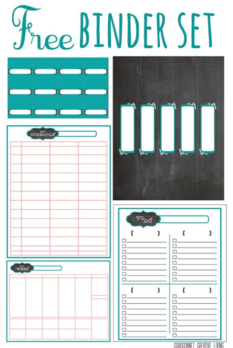 printable planner binder free printable chalkboard labels binders and storage