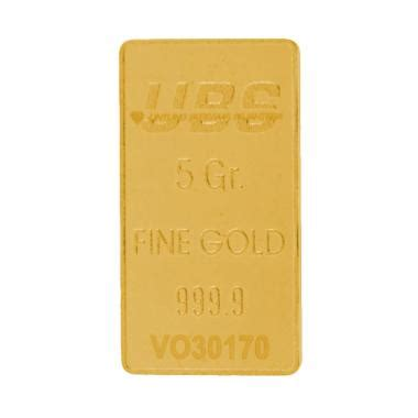 Emas Murni Ubs 0 5 Gram Kandungan 99 9 jual ubs emas logam mulia 5 g harga kualitas terjamin blibli