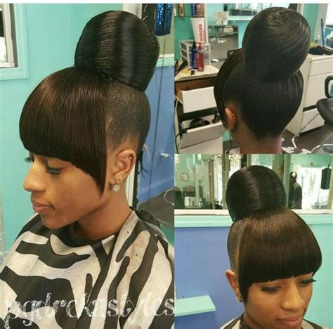 teen hairstyles for black girls bun and bang pinterest the world s catalog of ideas