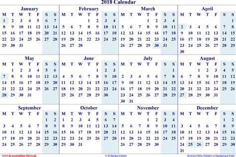 2018 Yearly Calendar Yearly Calendar 2018 Free Premium Templates