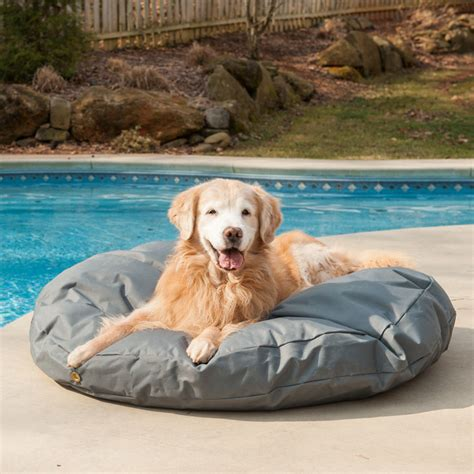waterproof pet bed outdoor waterproof round dog bed snoozer pet products