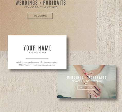 wedding photography business cards templates business cards photographer business card template
