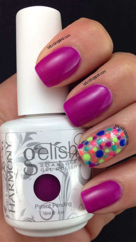easy nail art with gelish lsl s fun blog one color three simple nail designs