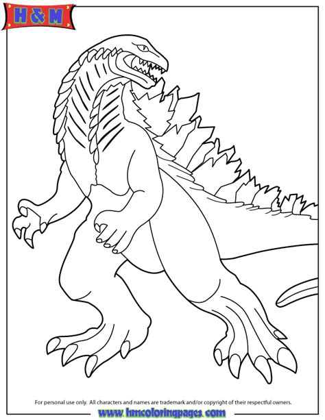 new 2014 godzilla coloring page h m coloring pages