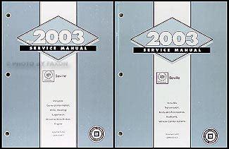 car repair manuals online free 2003 cadillac seville head up display 2003 cadillac seville repair shop manual original 2 volume set