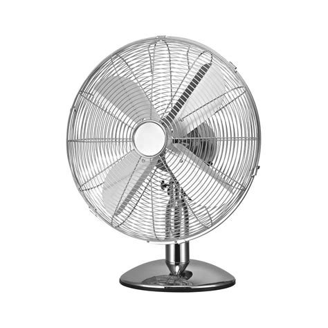 buy silver chrome oscillating metal desk fan from fusion